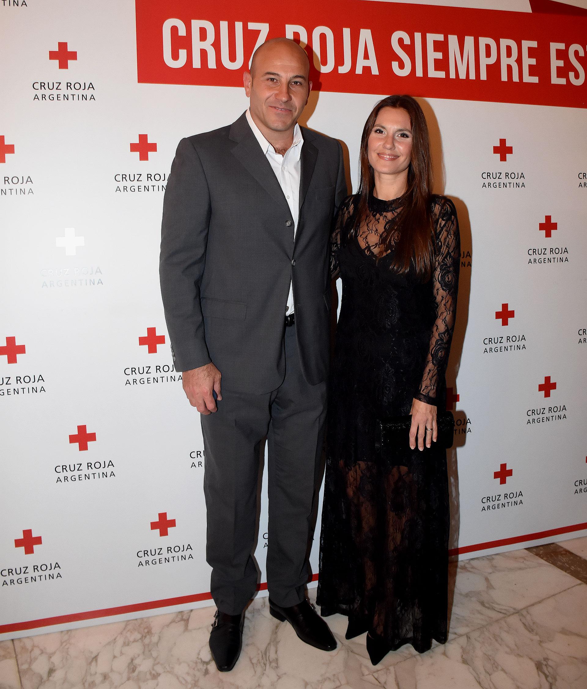 El intendente de Quilmes, Martiniano Molina, junto a su mujer, Ileana Luetic