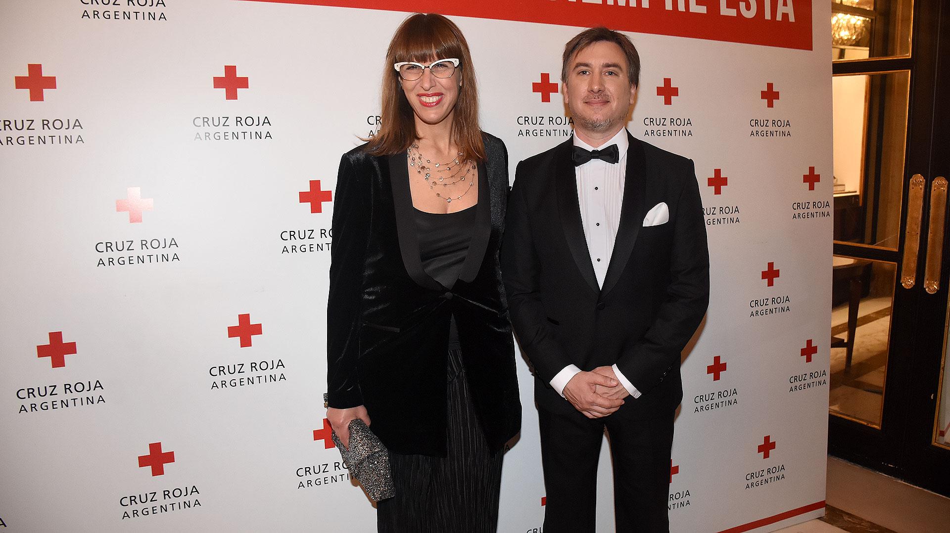 Valeria Schapira junto a Diego Tipping