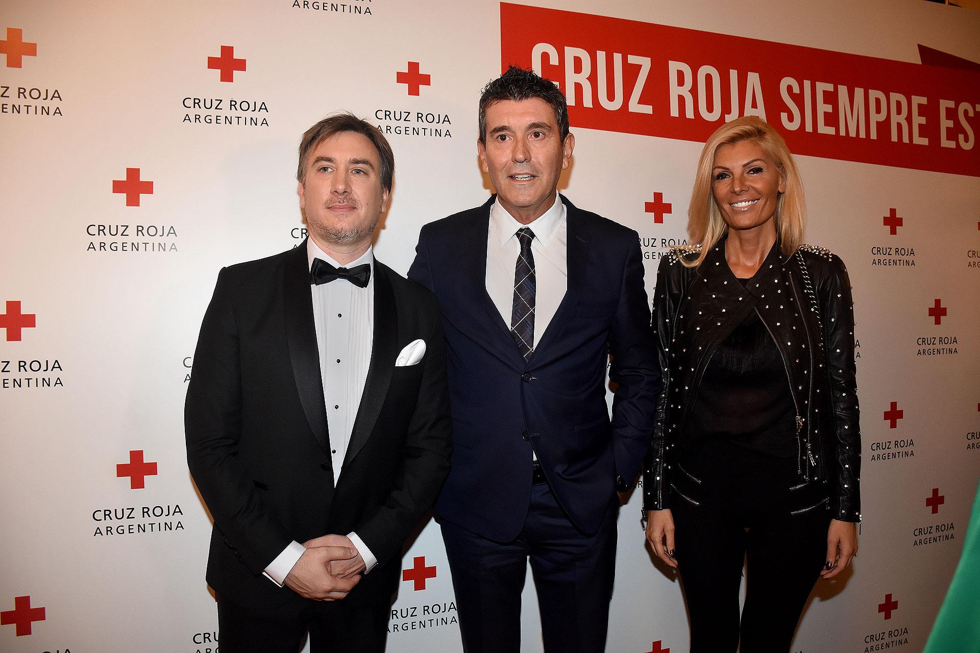 Diego Tipping, Miguel Ángel Cherutti y Fabiola Alonso