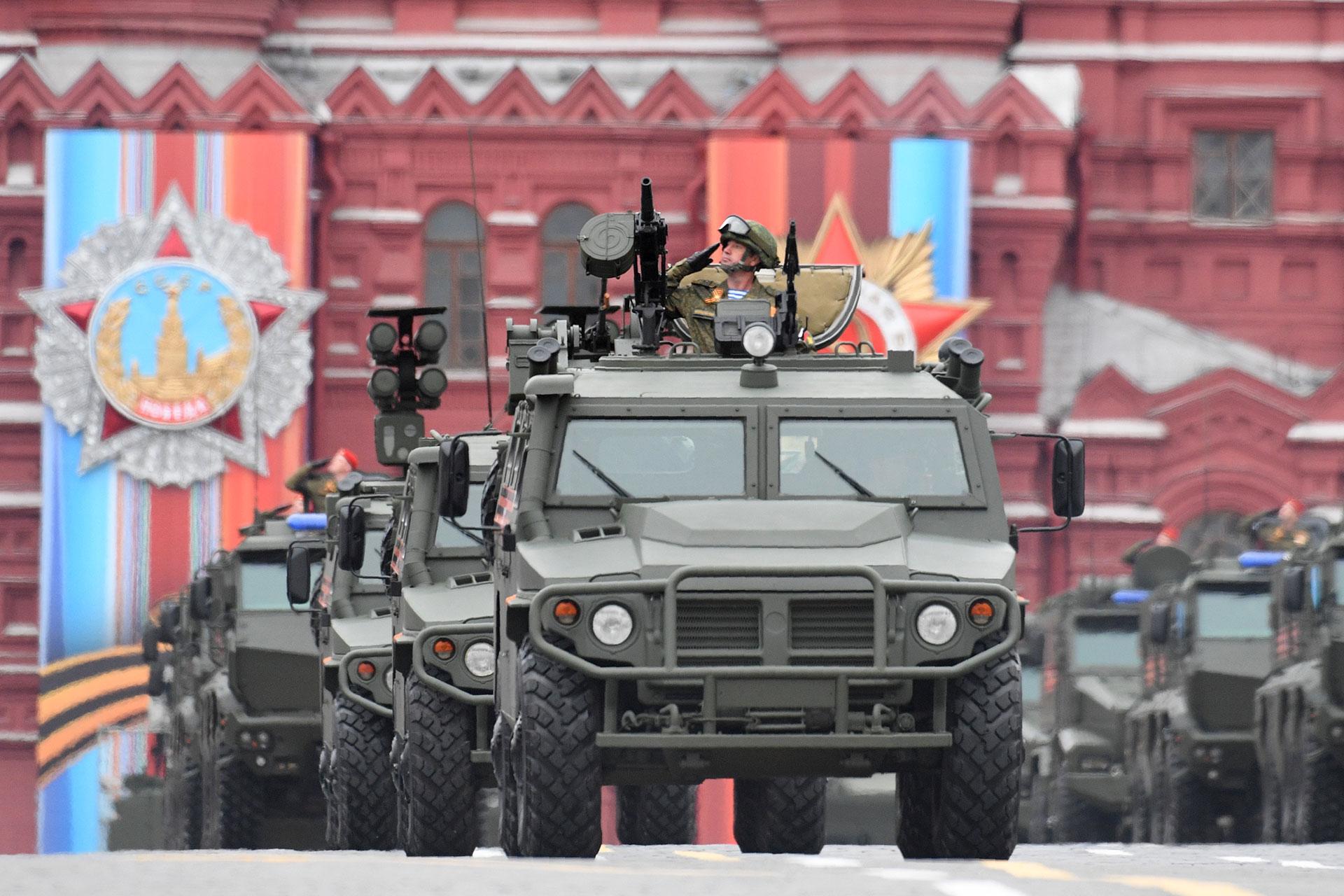 El GAZ Tigr es un vehículo todo terreno blindado que llegó los arsenales rusos en 2006 (AFP)