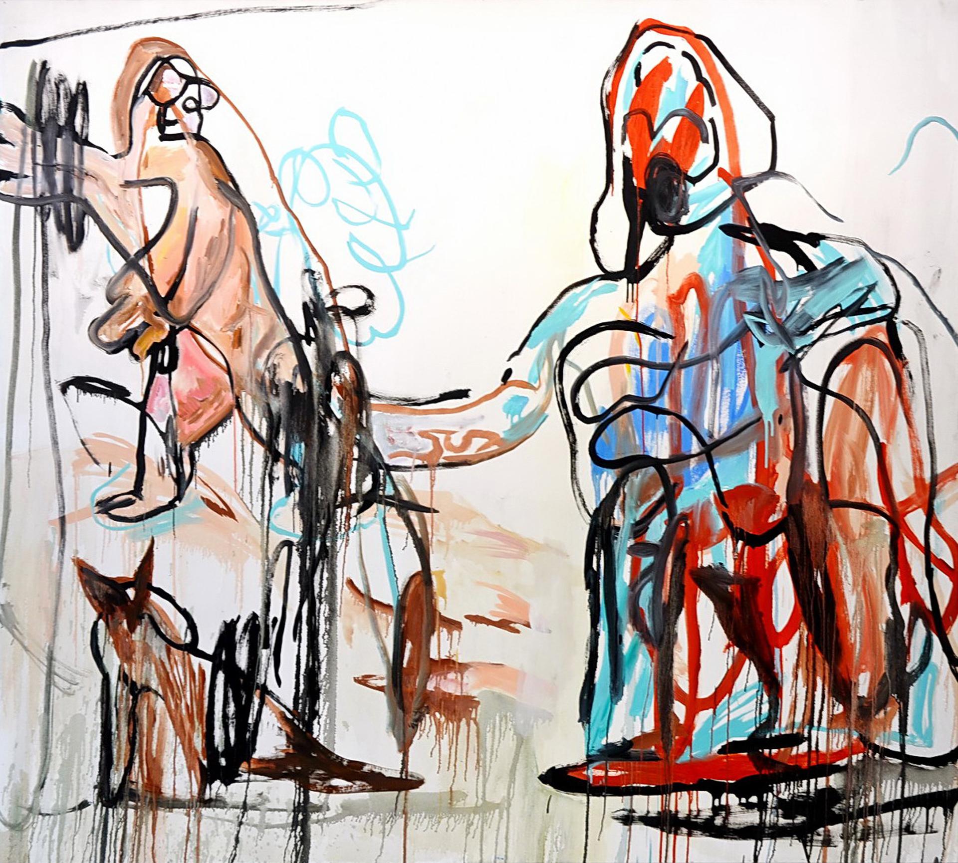 Galería: Galería Nora Fisch | Buenos Aires. Artista: Juan Becu. Título: Otra vez más yo no soy el mismo. Técnica: óleo sobre tela. Año: 2016. Medida: 200 x 200 cm