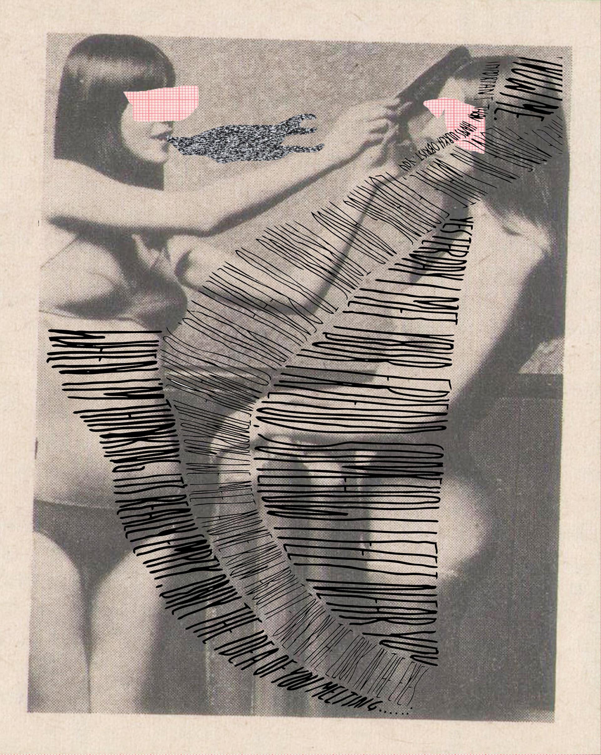 Galería: LambdaLambdaLambda. Pristine, Kosovo. Artista: Juan Pablo Mariano & Dardan Zhegrova. Título: Alone in white, floating and trying to reach you. Técnica: Extract from Zine Año: 2017. Dimensiones: 21 x 15 cm