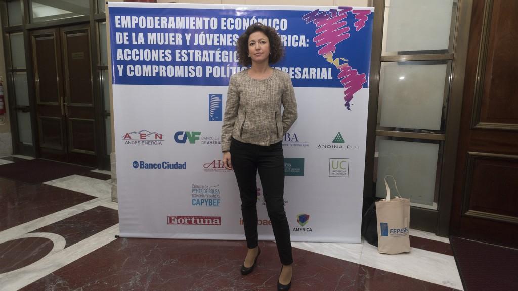 Elena Cardona, ejecutiva principal de la Unidad de Inclusión CAF (Adrián Escandar)