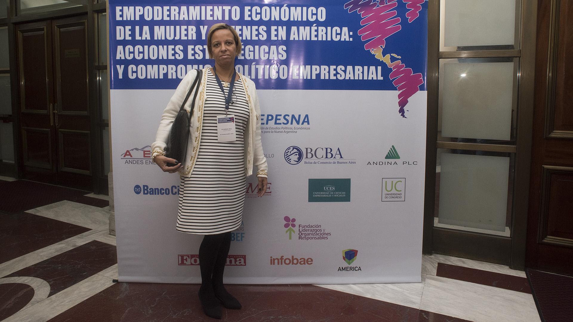 Willma de Andrade, coordinadora general de secretaría de políticas de trabajo y autonomía de mujeres, Brasil (Adrián Escandar)
