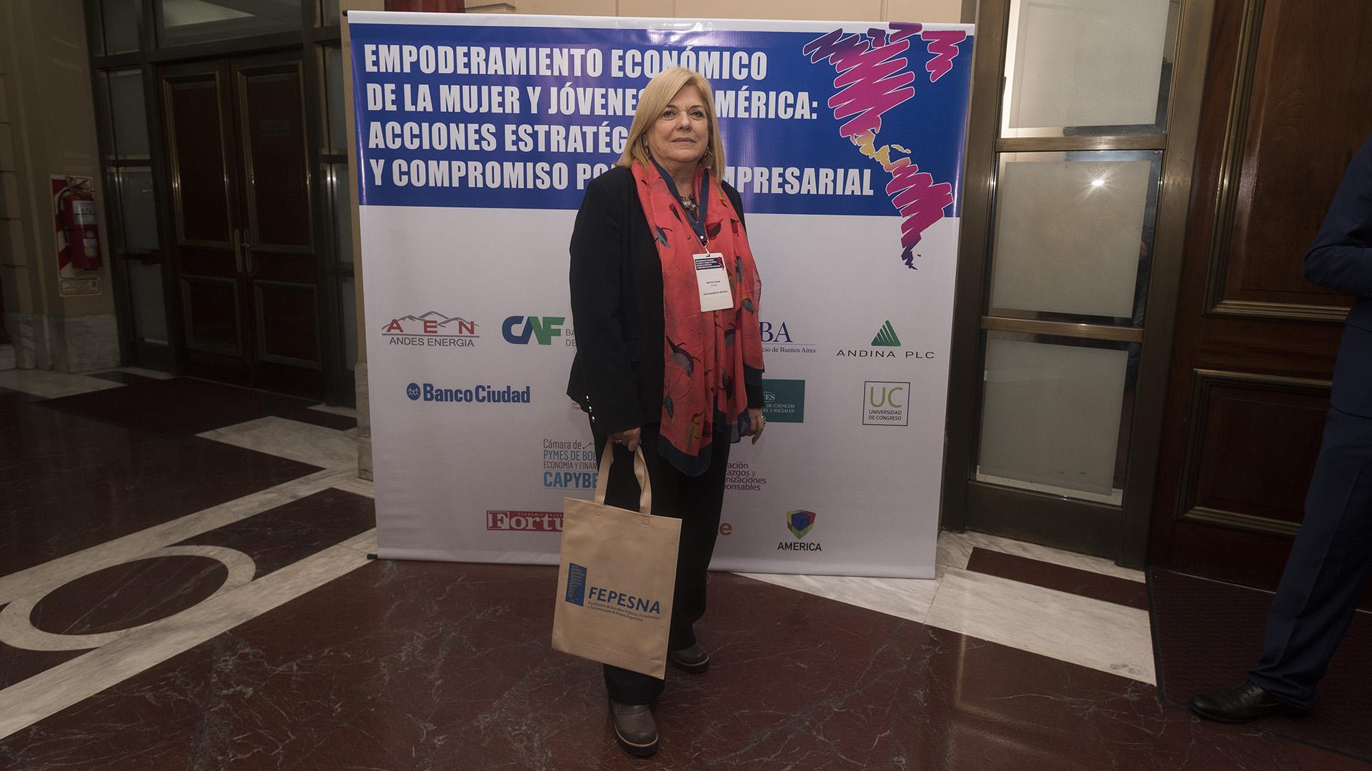 Amalio Mattio, presidente Foro de Mujeres del Mercosur (Adrián Escandar)