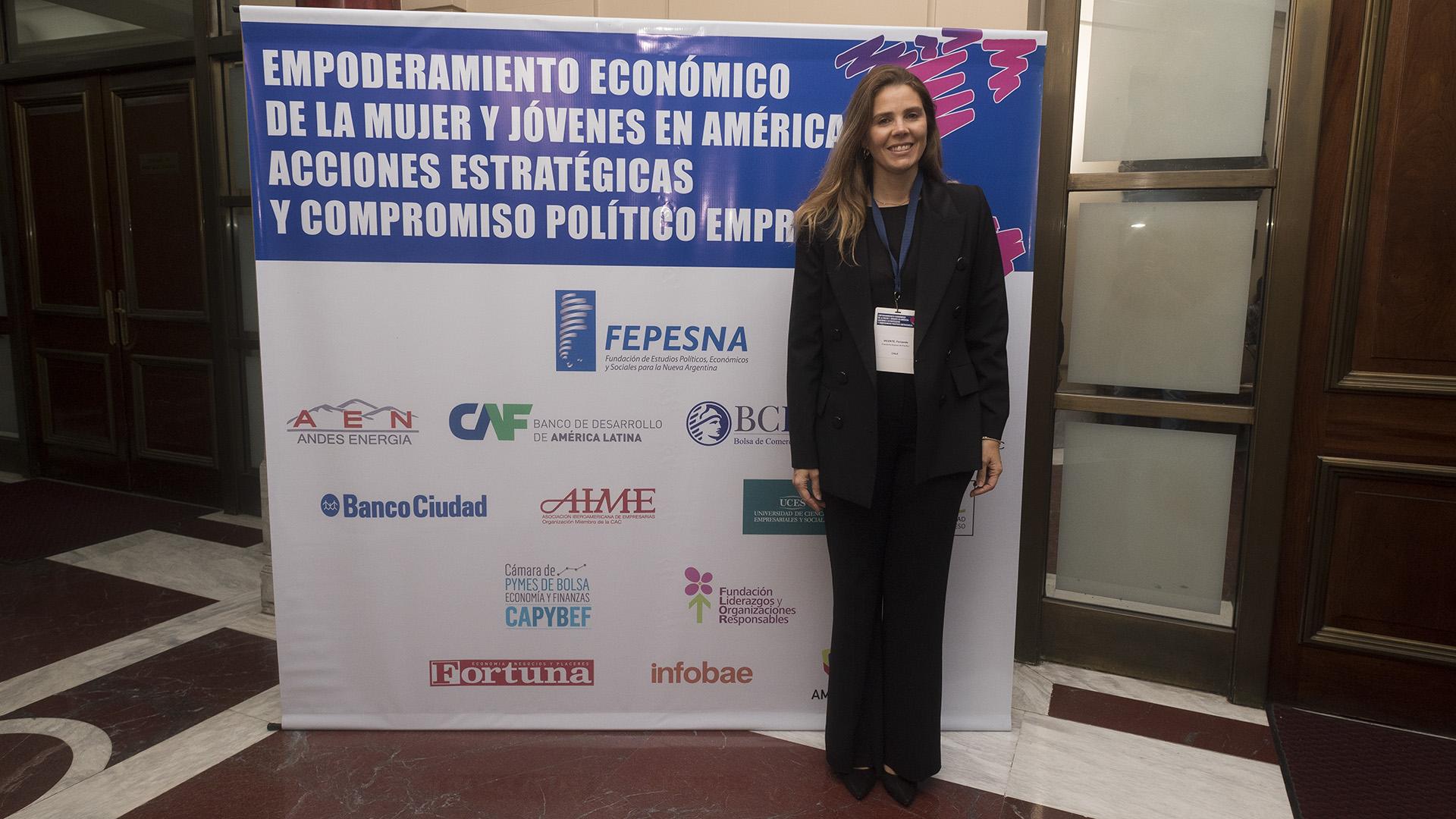 Fernanda Vicente, presidente mujeres del Pacífico (Chile) (Adrián Escandar)