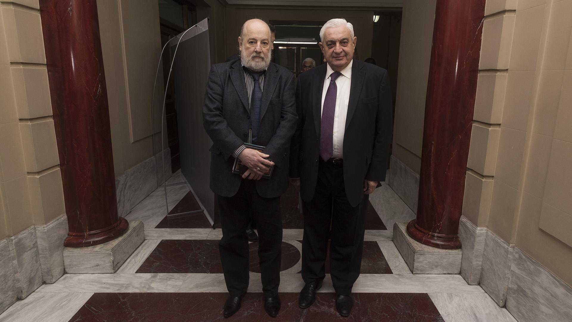 Claudio Bonadio, Juez Federal de la Nación y Adelmo Gabbi presidente de la Bolsa de Comercio (Adrián Escandar)