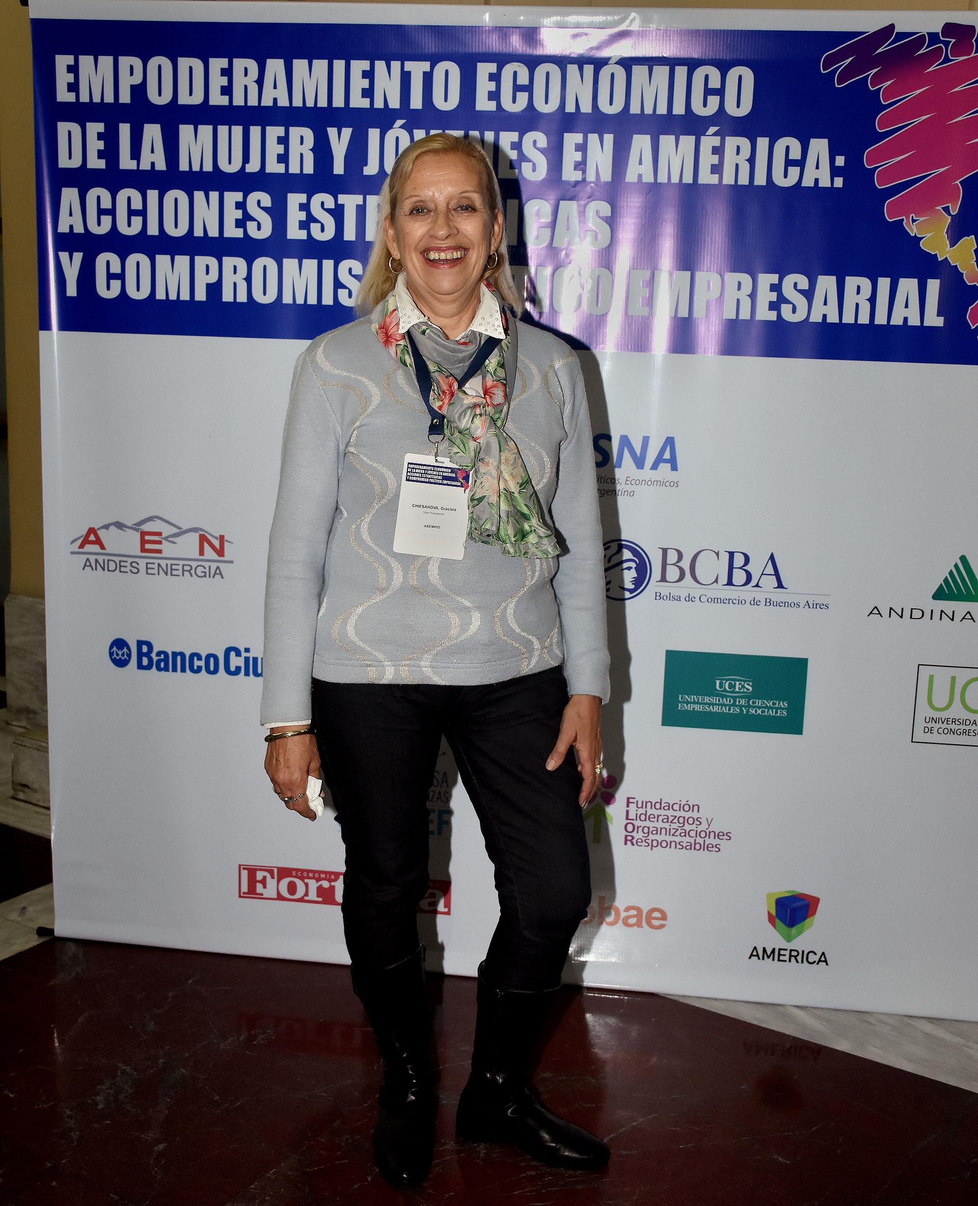 Graciela Chiesanova, vicepresidente ASEMPIO(Nicolás Stulberg)