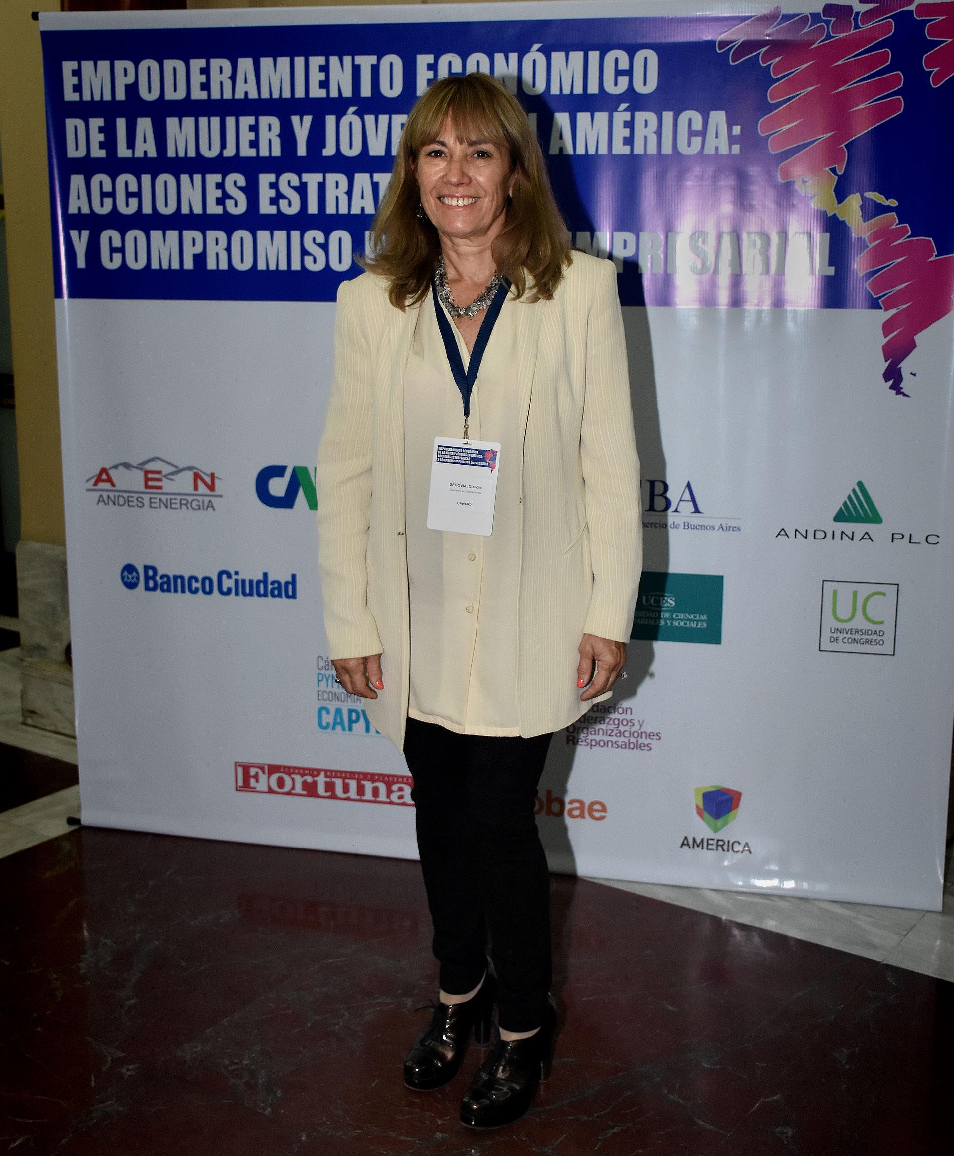 Claudia Segovia, directora de proyecto UPWARD (Nicolás Stulberg)