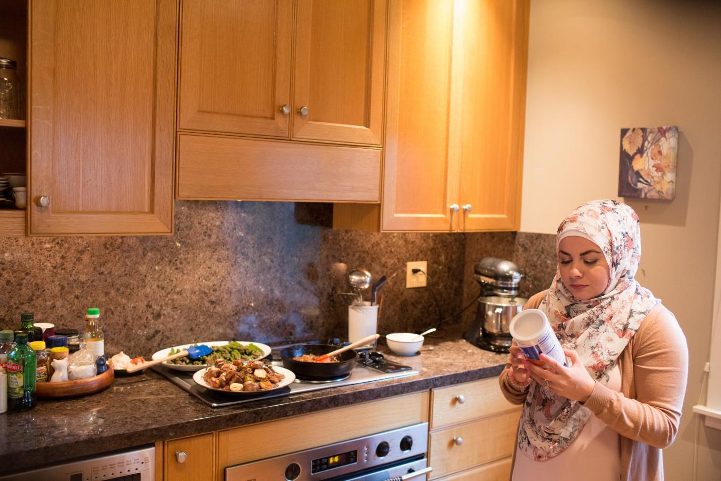 En la página web muslimneighbor.comAmanda Saab comparte su idea. (Meryl Schenker para The Washington Post)