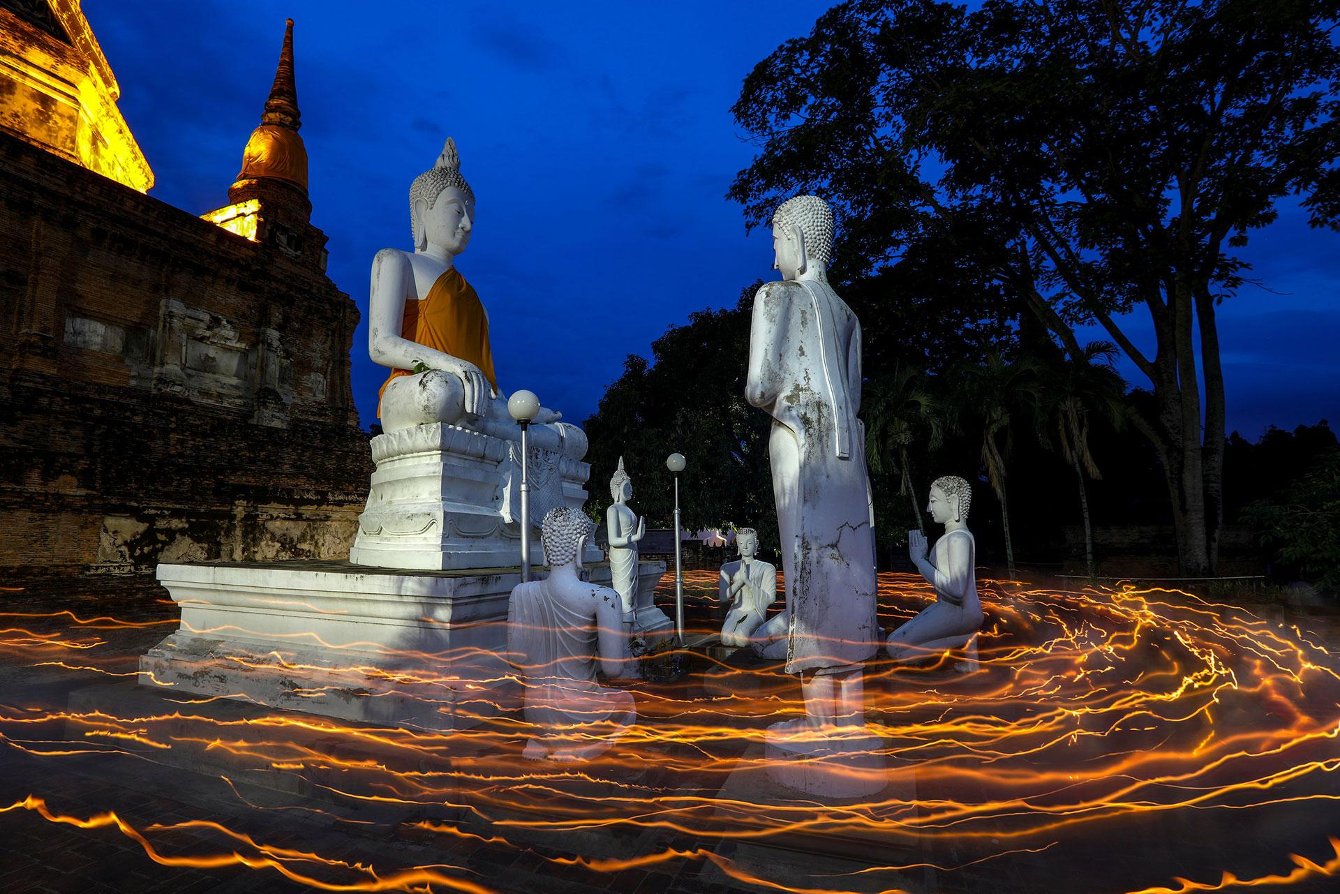 Monumento al Buda en el templo Chai Mongkhon en Ayutthaya, Tailandia (Reuters)