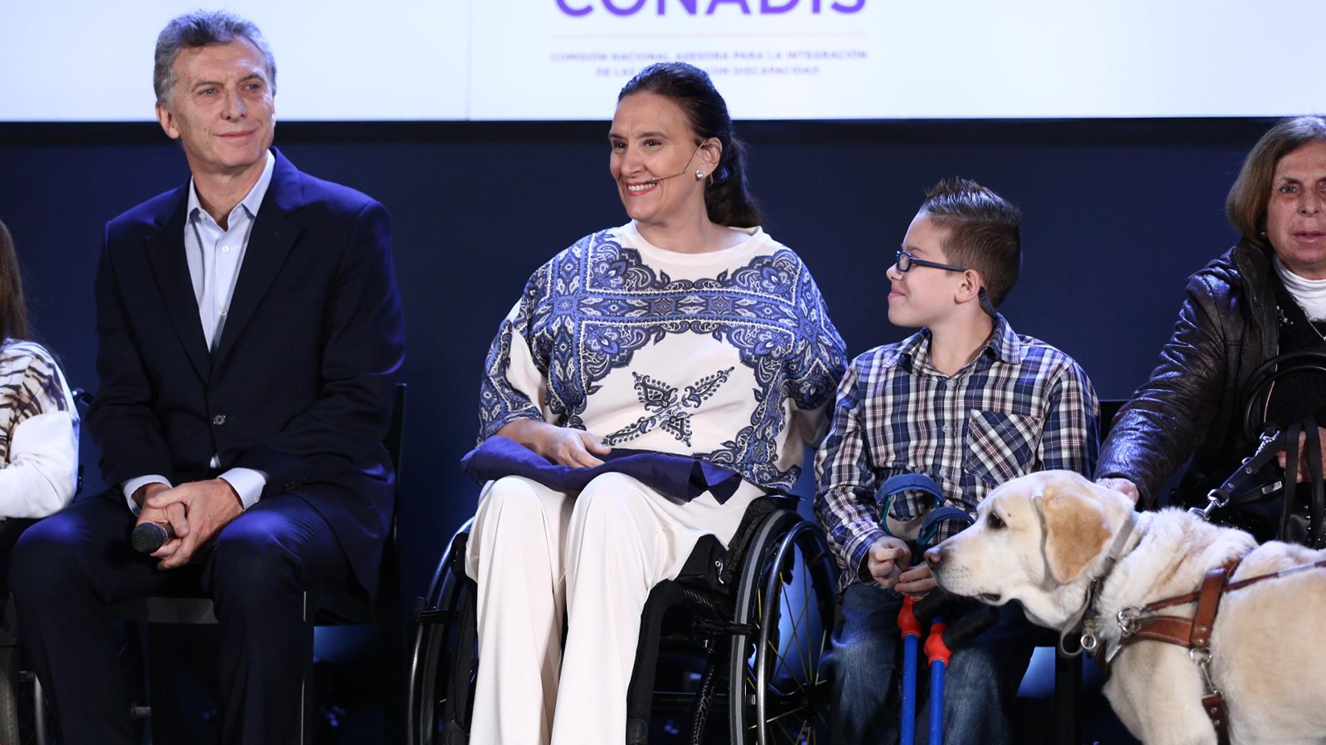 Michetti precisó que este plan busca restituir derechos a personas con discapacidad (Presidencia)