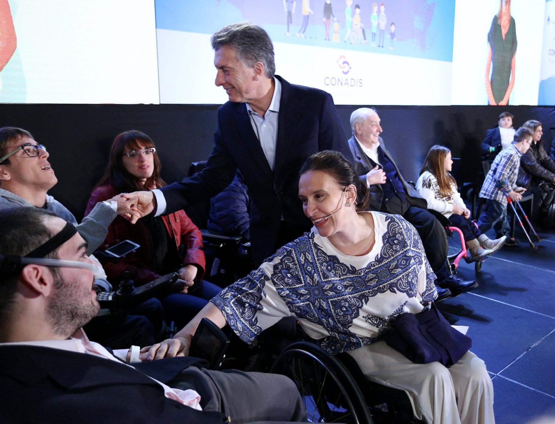Mauricio Macri y Gabriela Michetti presentaron el Plan Nacional de Discapacidad (Presidencia)