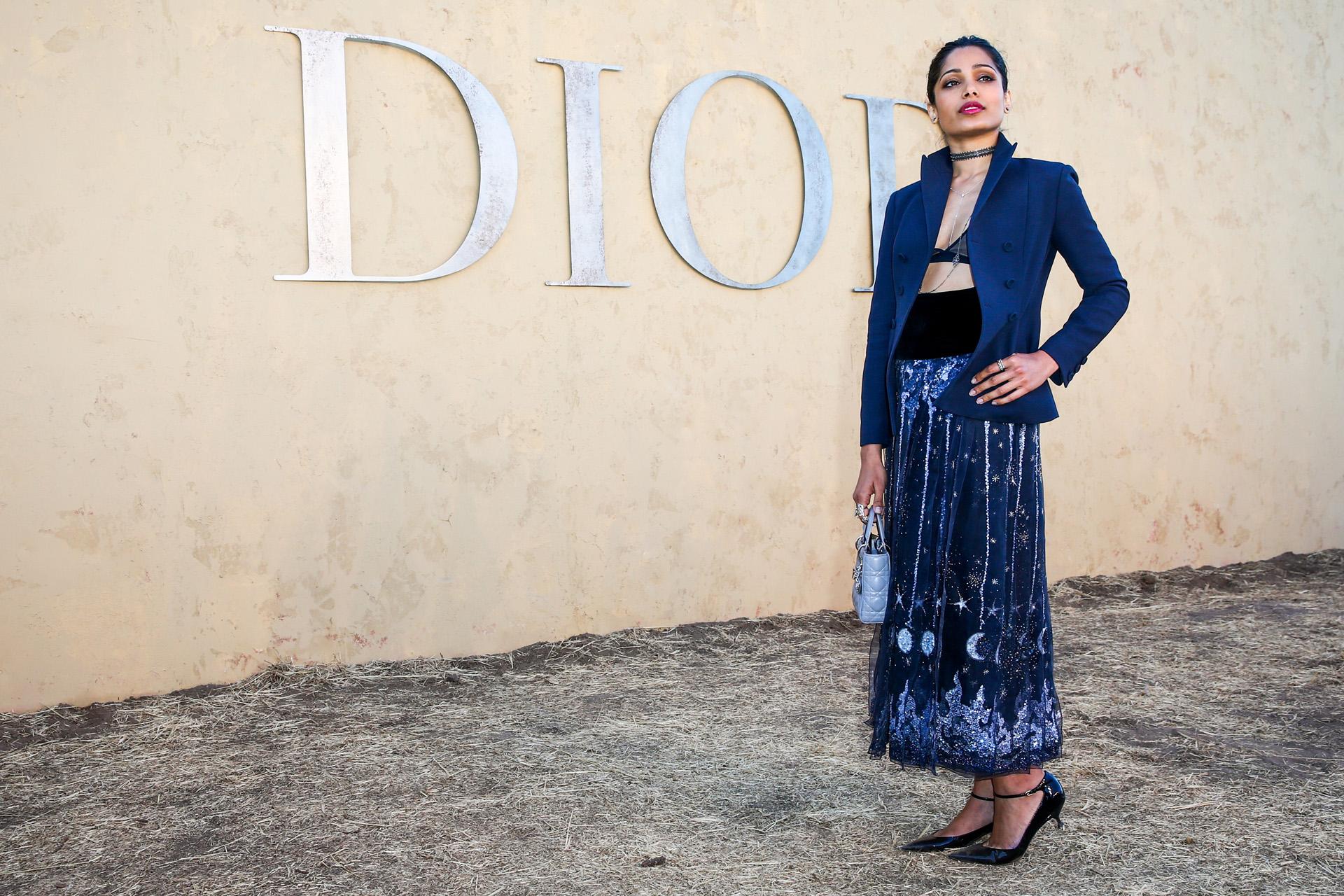 Freida Pinto presente en el desfile de Christian Dior Crucero 2018 en Santa Monica (Photo by Rich Fury/Getty Images)