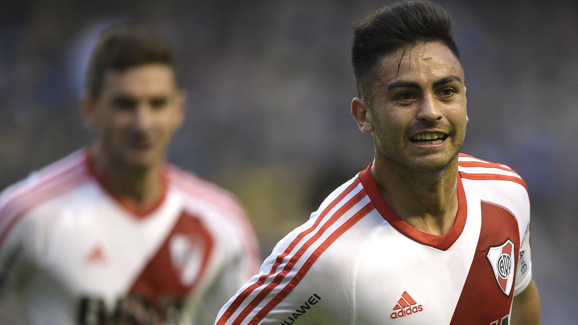 """Gonzalo """"Pity"""" Martinez, autor del primer gol, nació en Guaymallén, Mendoza, tiene 23 años y comenzó su carrera en Huracán"""
