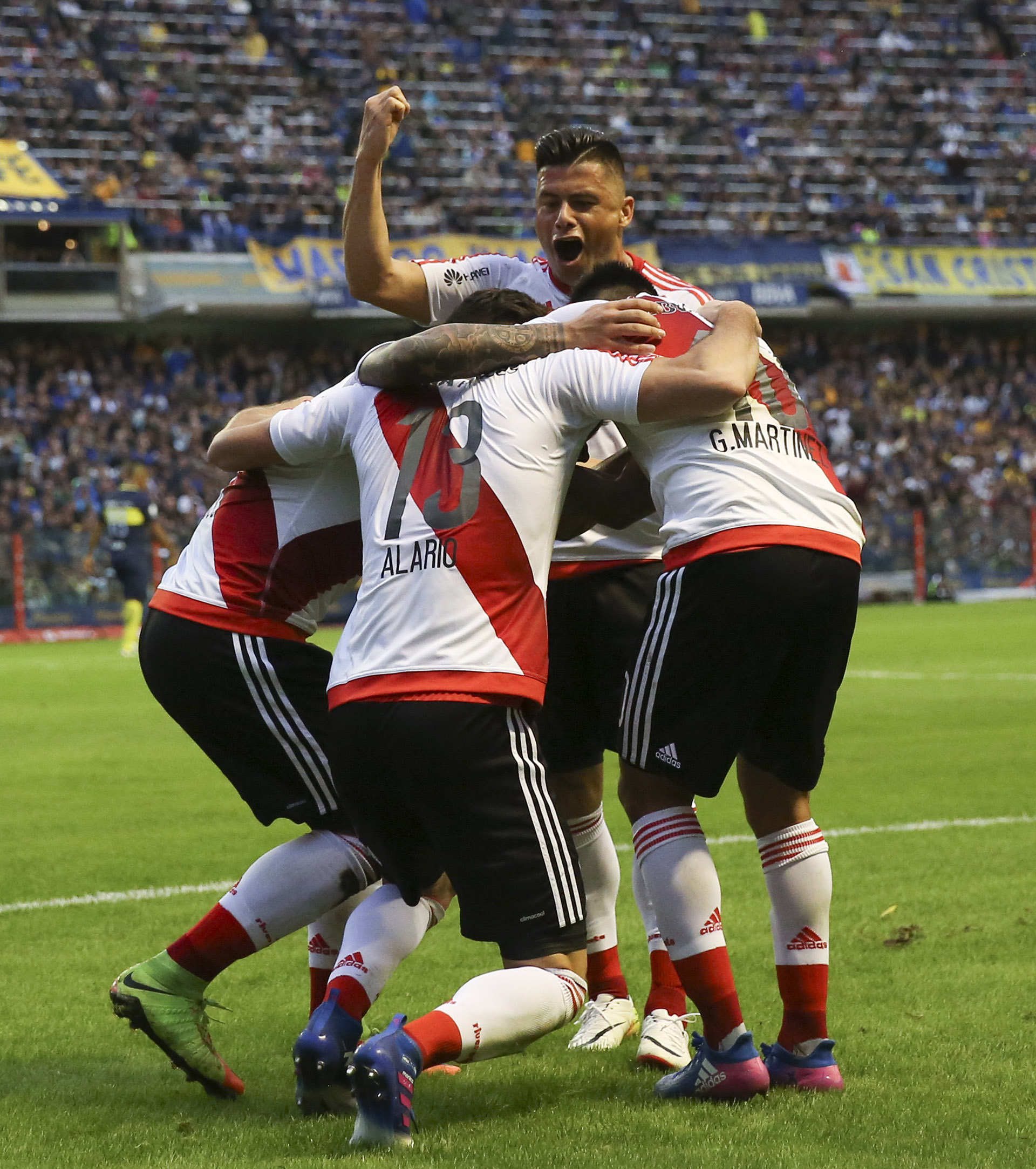 Fin del partido: River se impuso sobre Boca por un contundente 3-1