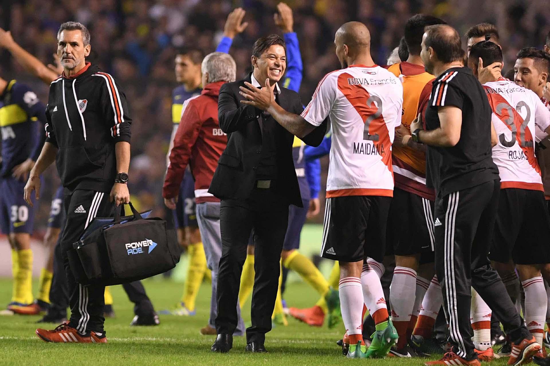Feliz, al finalizar el partido Gallardodijo que River disputará el campeonato