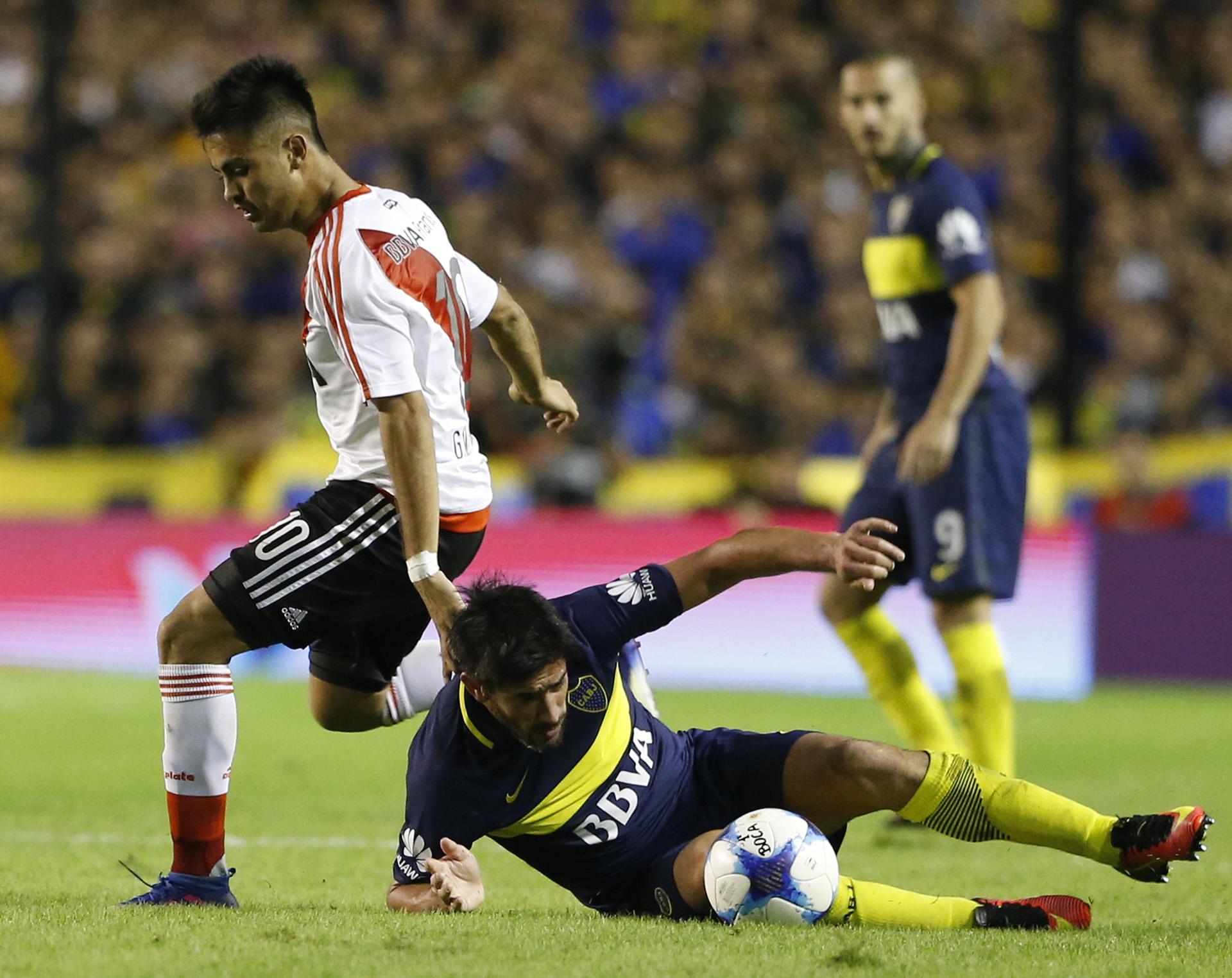 """Gonzalo """"Pity"""" Martinez,encargado de abrir el marcador a los 14 minutos del primer tiempo"""