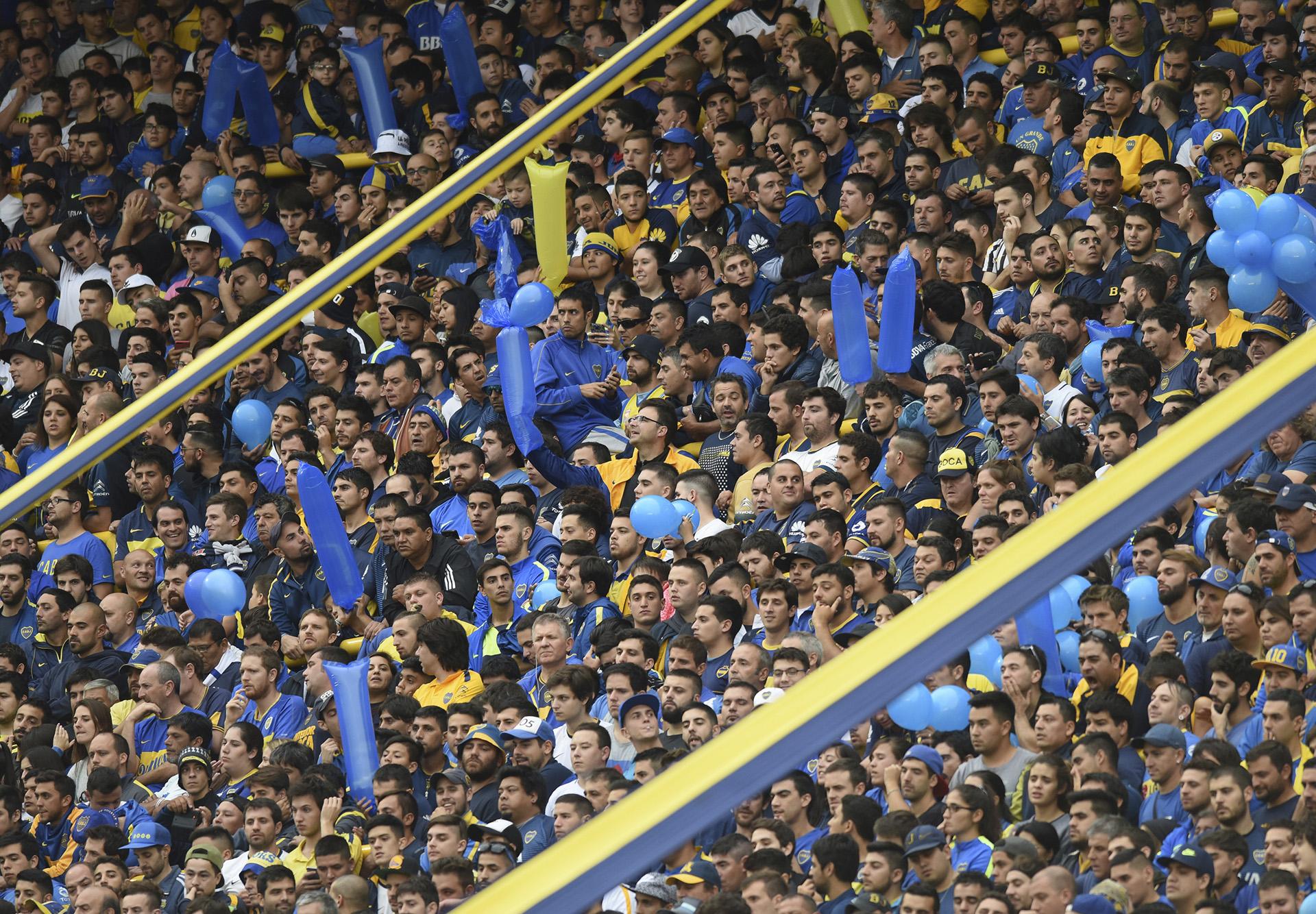 El silencio en la tribuna de Boca Juniors