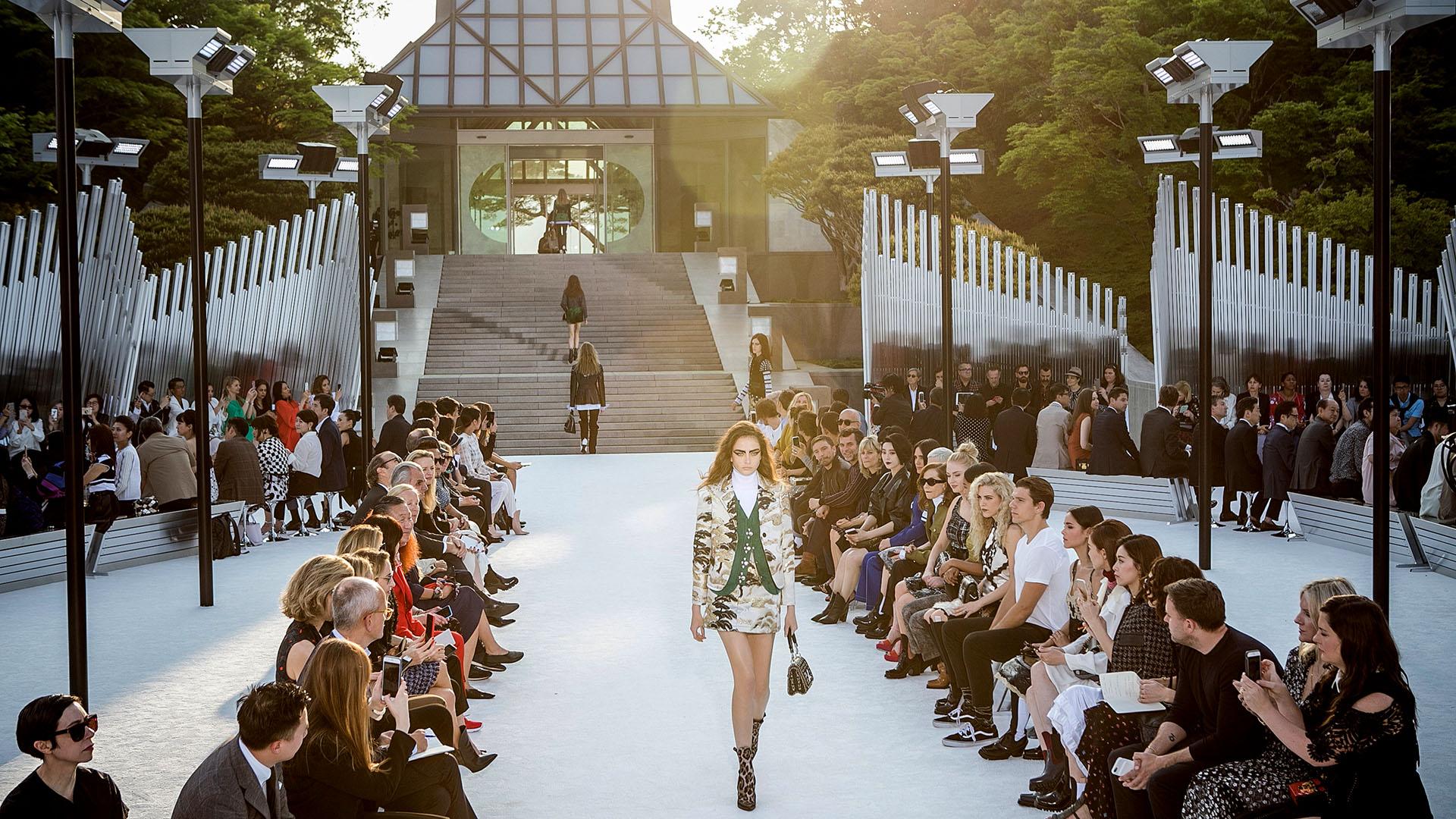 La colección crucero de Louis Vuitton es un homenaje a la relación que la firma mantiene con Japón desde hace mucho tiempo (Getty Images)