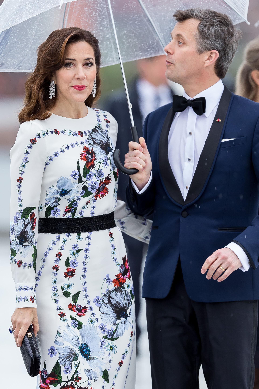 Los príncipes Marie y Frederik de Dinamarca