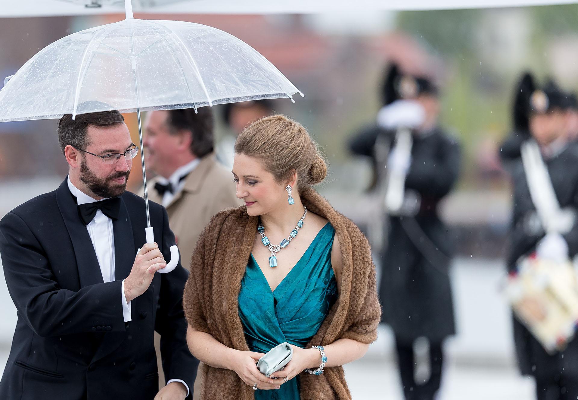 Los príncipes Guillaume y Stephanie de Luxemburgo
