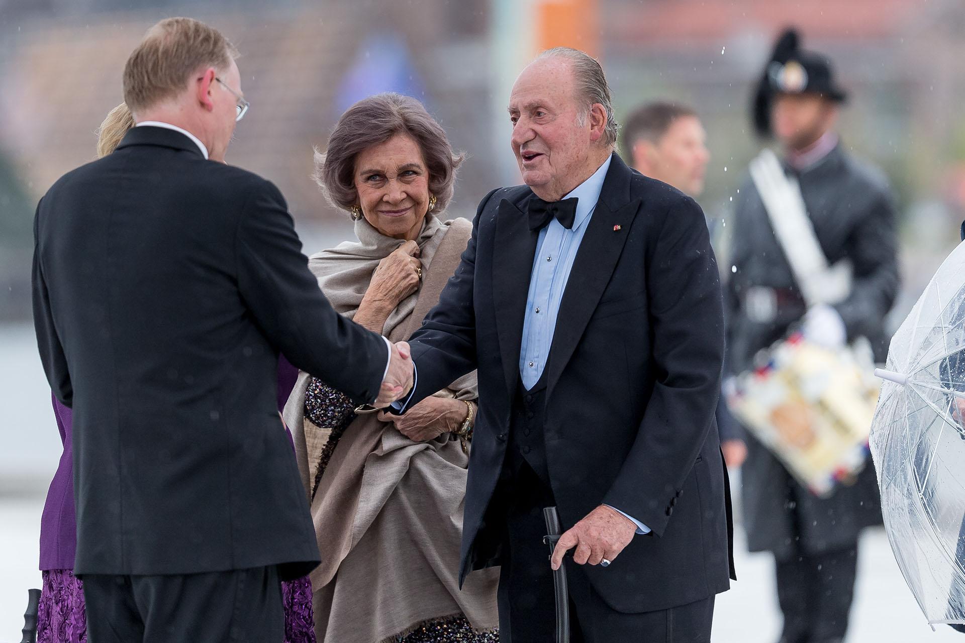 Los reyes eméritos Juan Carlos y Sofía de España
