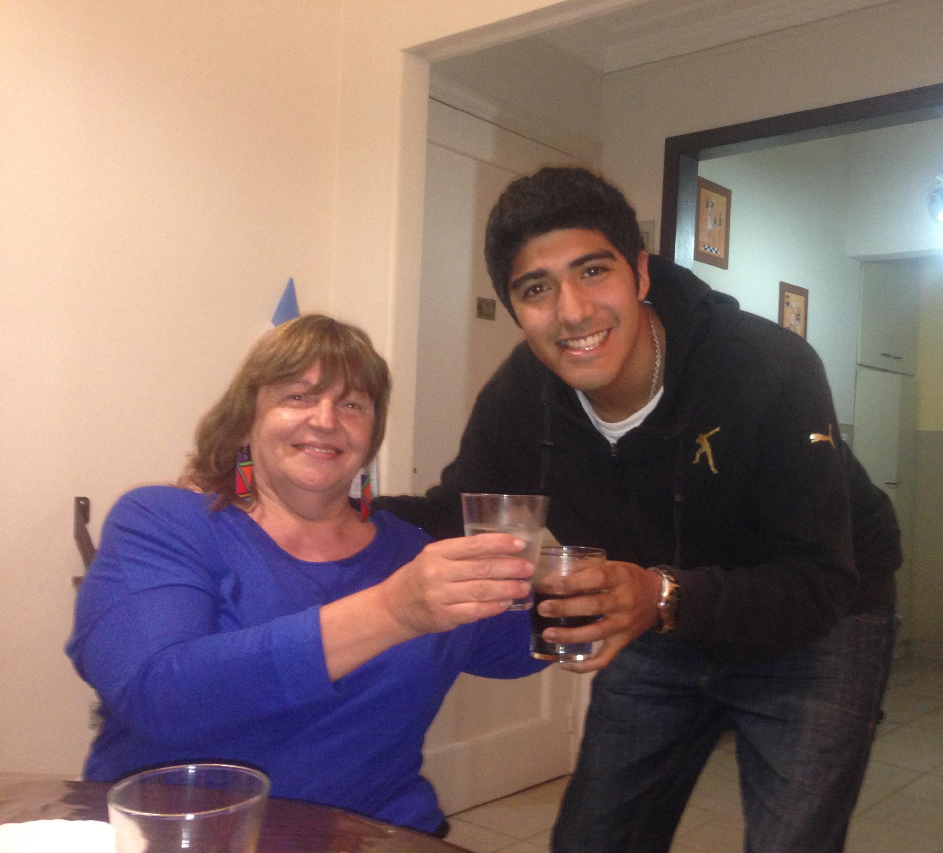 Silvia junto a su hijo Federico, con quien comparten la pasión por el deporte