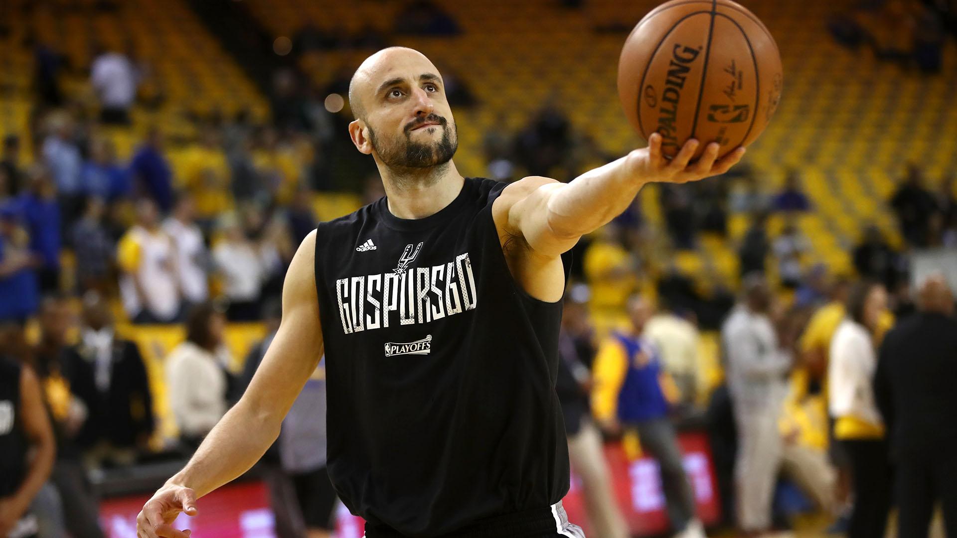 Manu Ginóbili podría decir adiós ala NBA entre gestos de admiración y ovaciones (Getty Images)