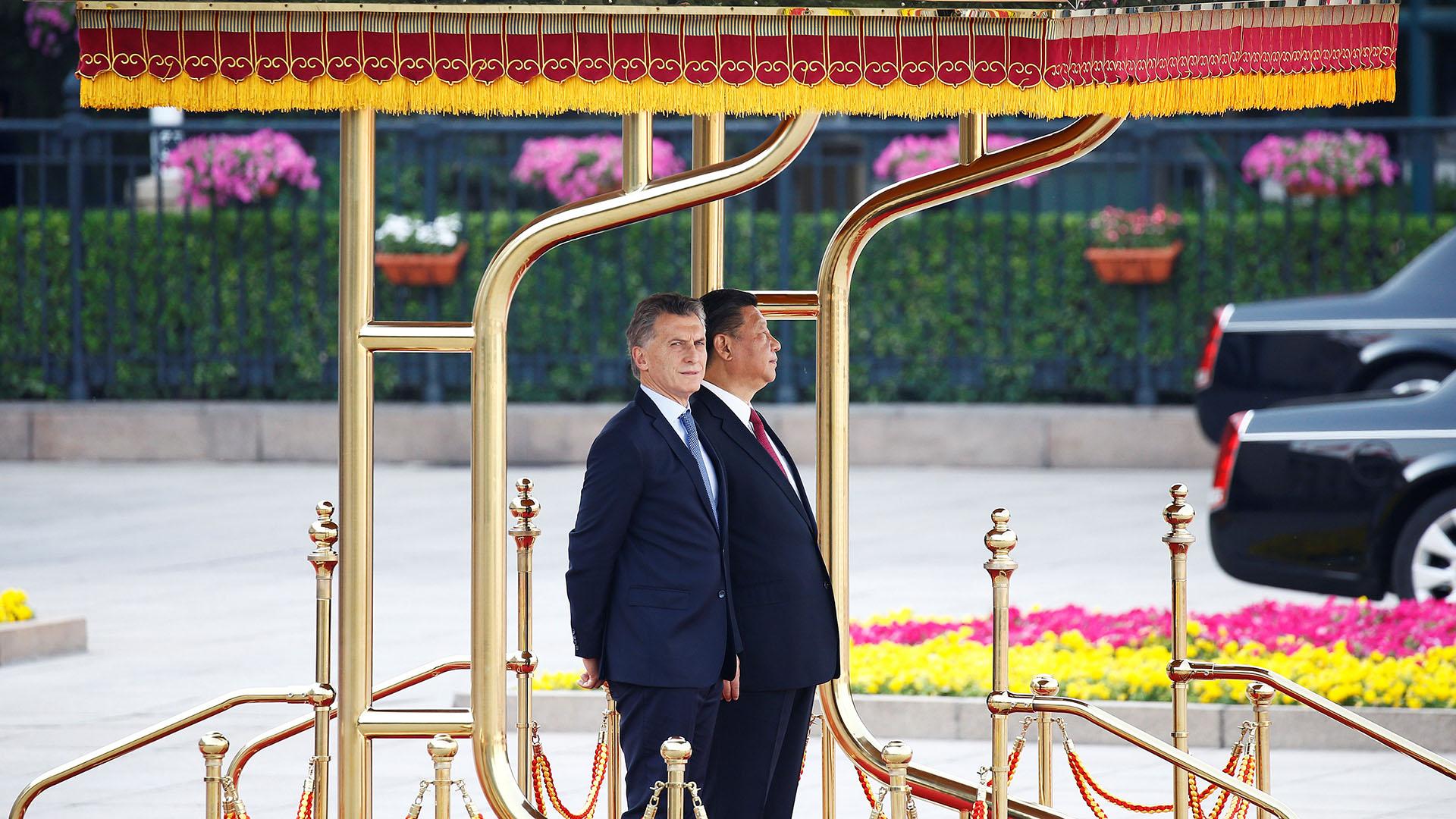 Los presidentes Mauricio Macri y Xi Jinping (REUTERS)