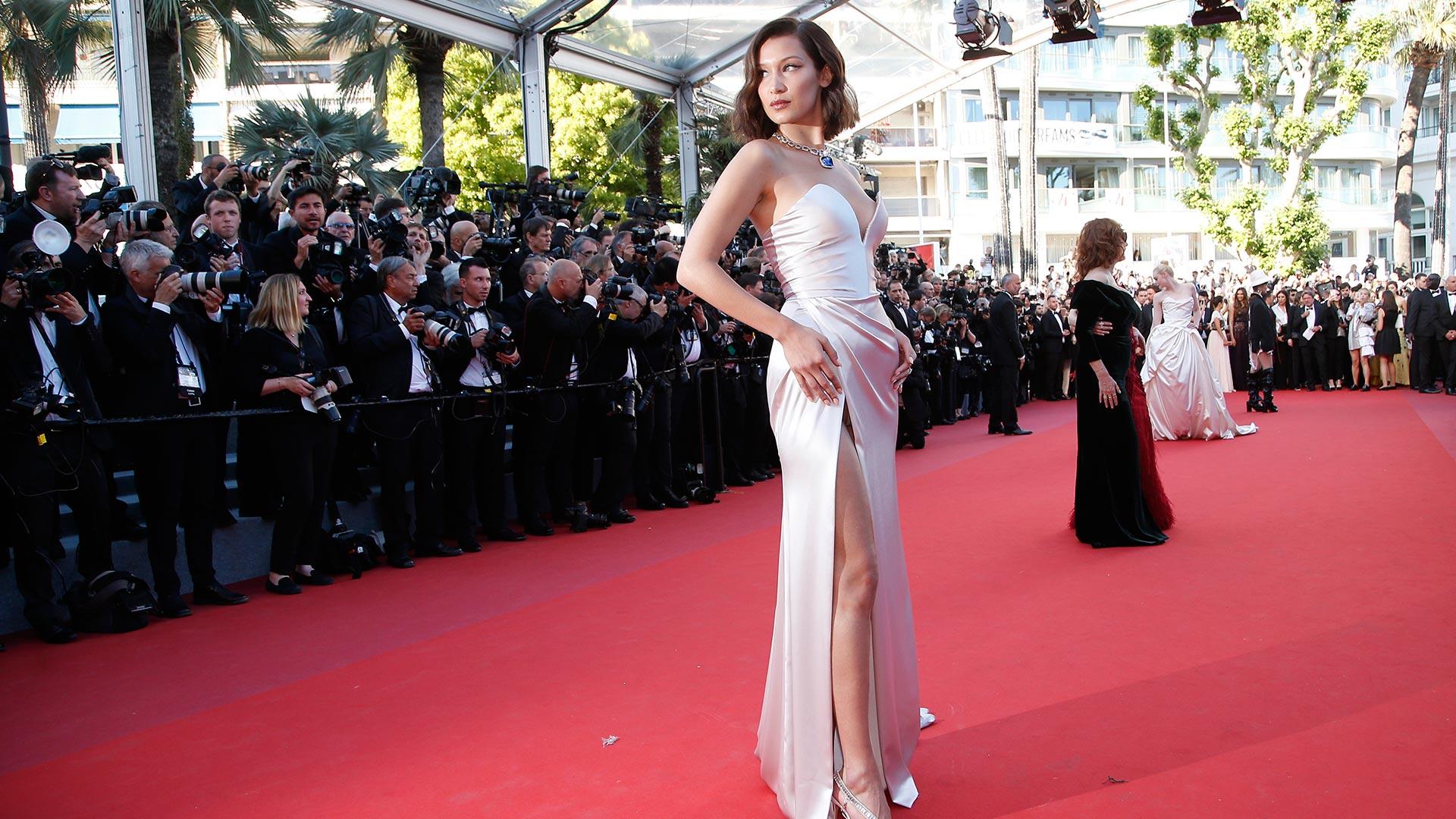La modelo Bella Hadid se robó todas las miradas en Cannes 2017