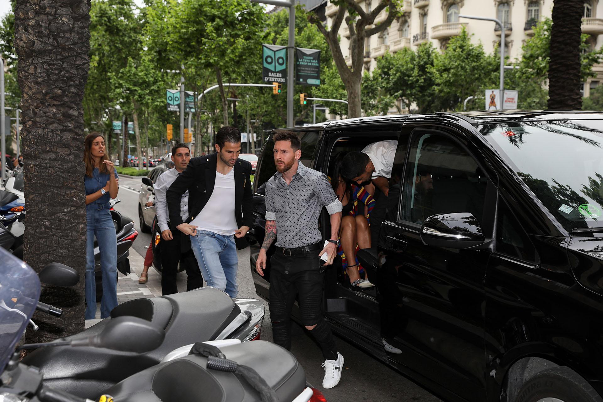 La llegada de Lionel Messi, Cesc Fàbregas y Luis Suárez