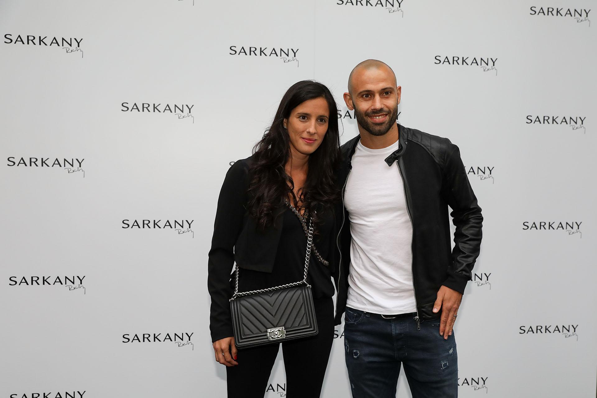 Javier Mascherano y su esposa, Fernanda Moreno