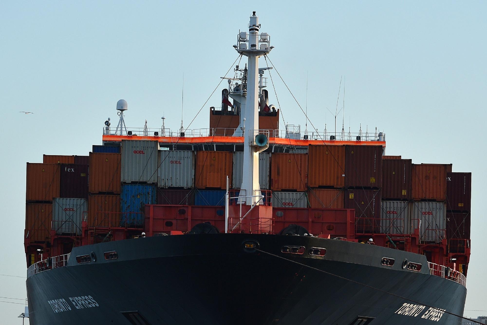 Como un barco fantasma pero con contenedores. (Foto: GLYN KIRK/AFP/Getty Images)