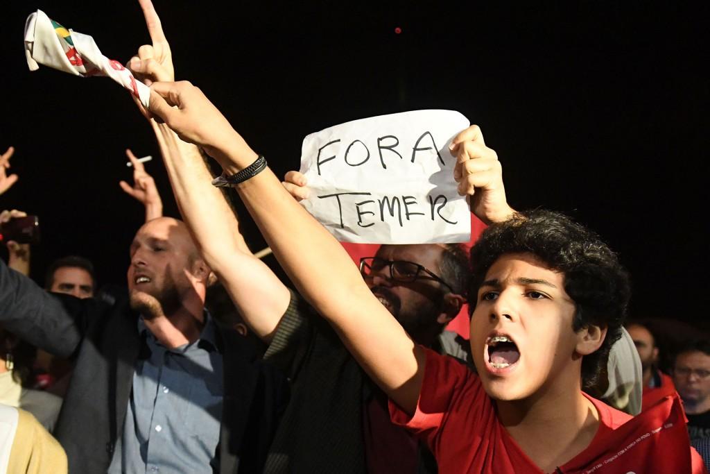 Los ciudadanos exigían la salida de Temer, quien asumió el poder tras el impeachment a Dilma Rousseff por maniobras fiscales