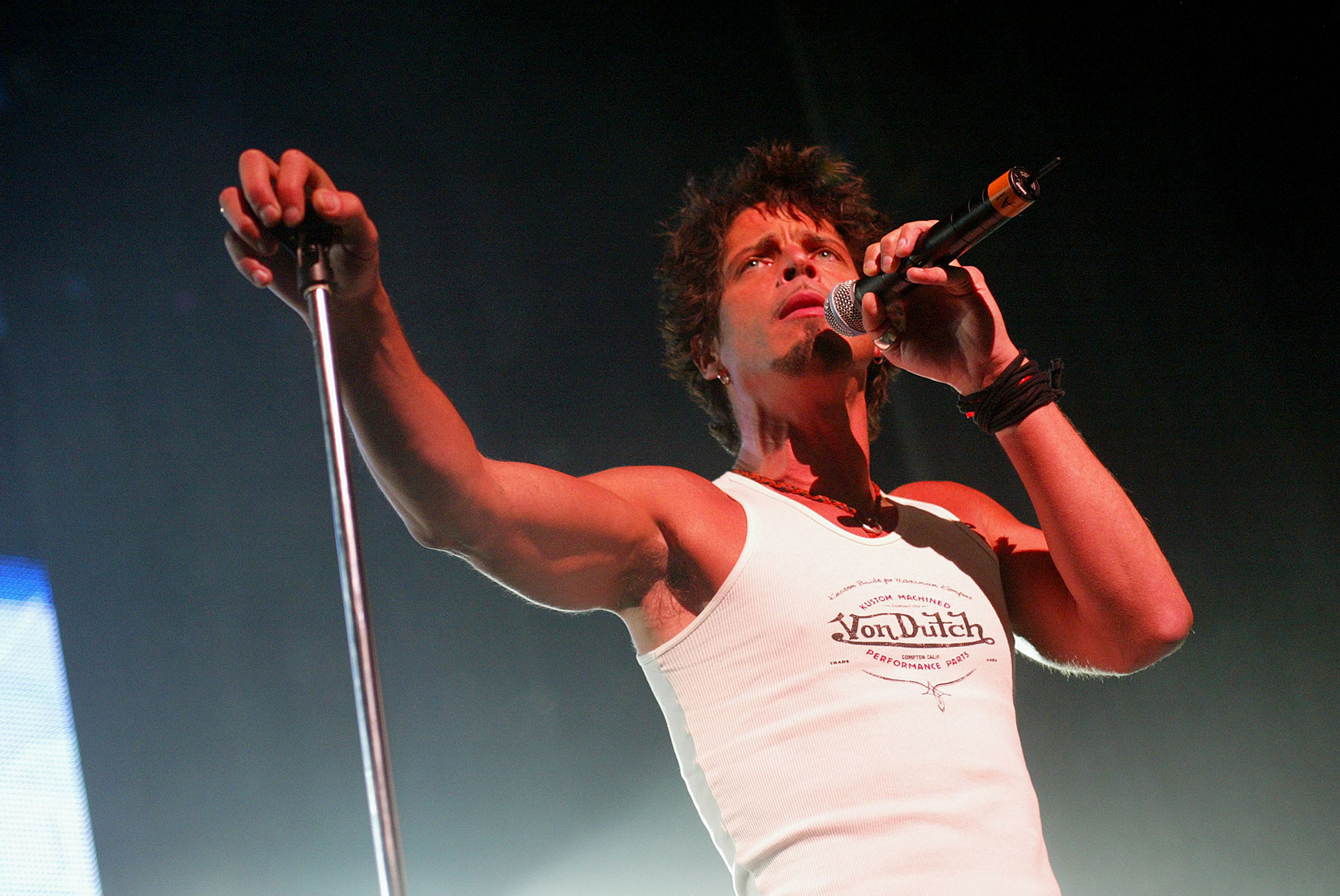 Con Audioslave en 2002, en Los Ángeles (Kevin Winter/Getty Images)