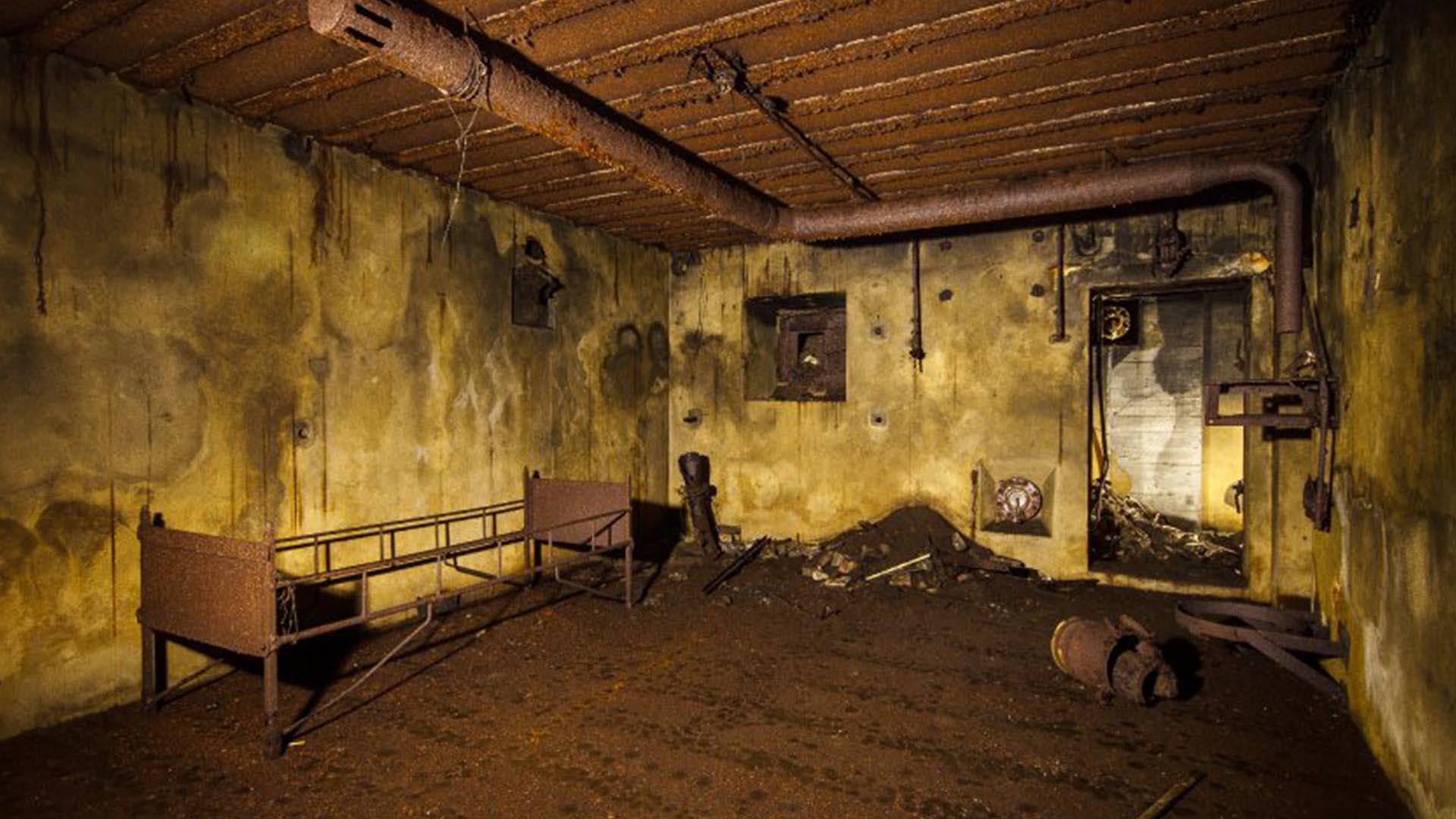 El búnker descubierto y en proceso de restauración estaba ocupado por 3.300 soldados al comando de las SS (Solveig Grothe)