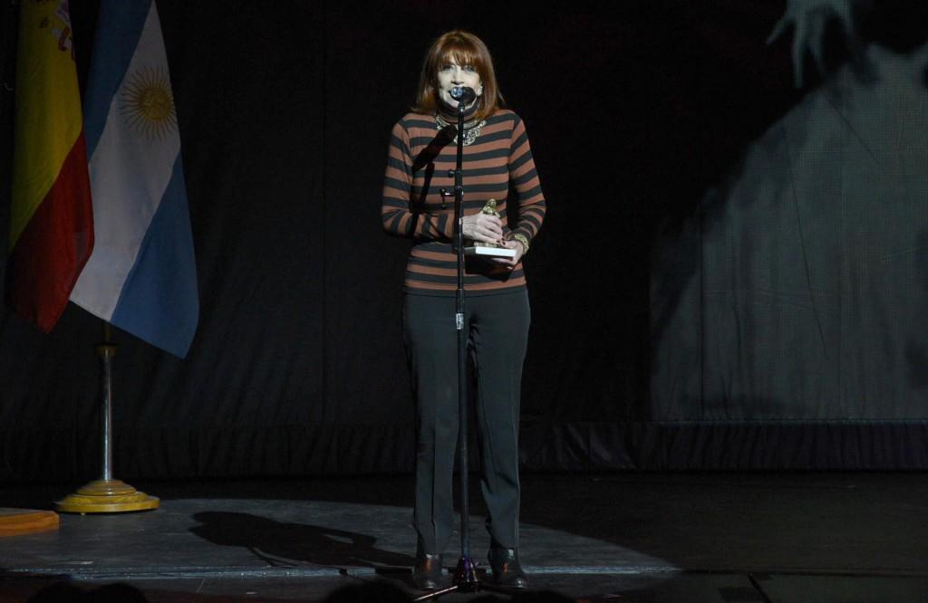 Adriana Aizemberg obtuvo un galardón por su extensa carrera artística