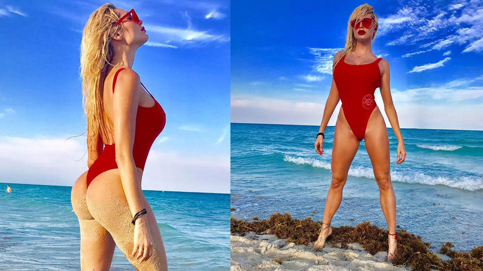 """Vicky Xipolitakis jugó a ser una """"chica Baywatch"""" en las playas de Miami"""