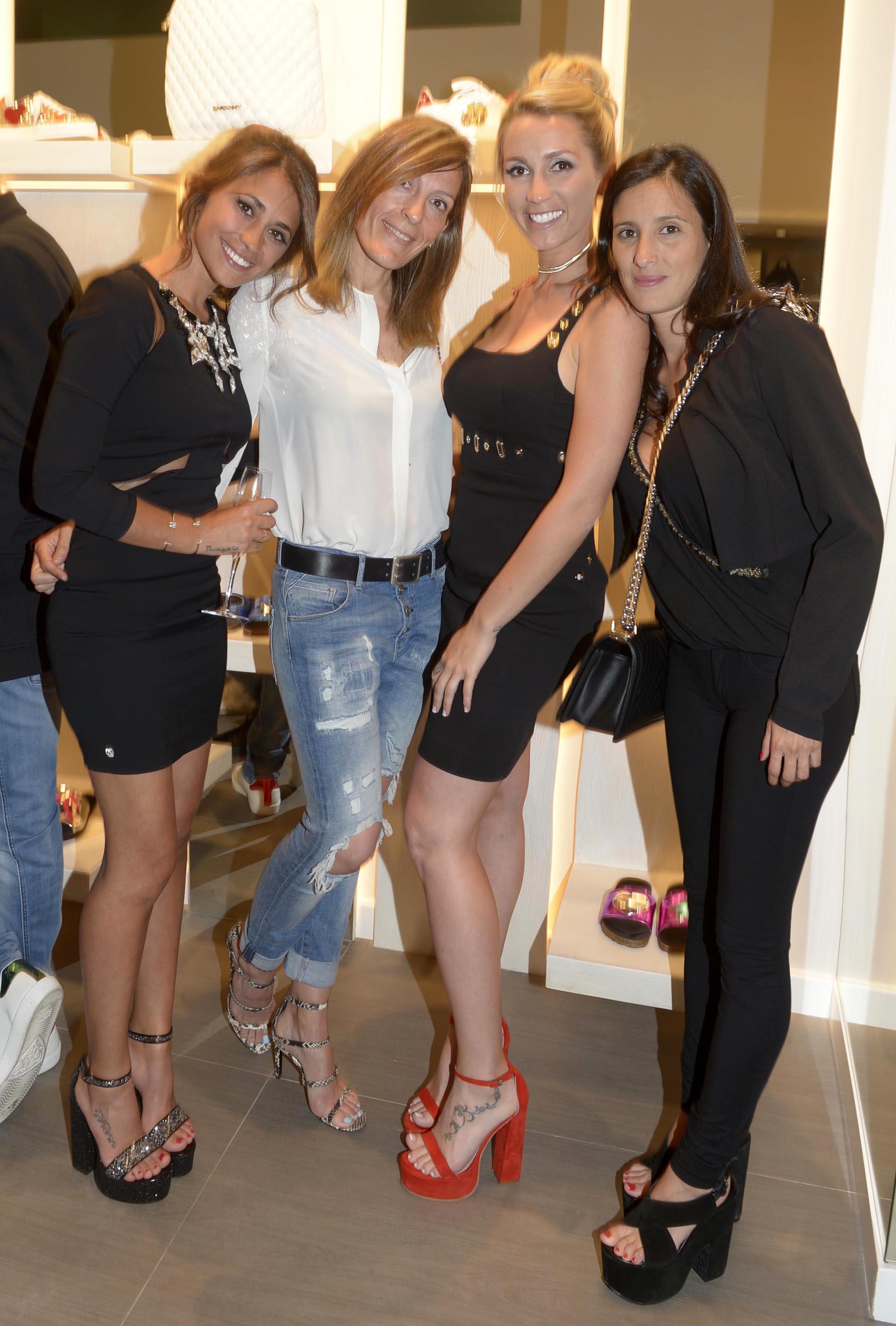 Antonella Rocuzzo, la mujer de Risto Meijides, Sofia Balbi y Fernanda Mascherano