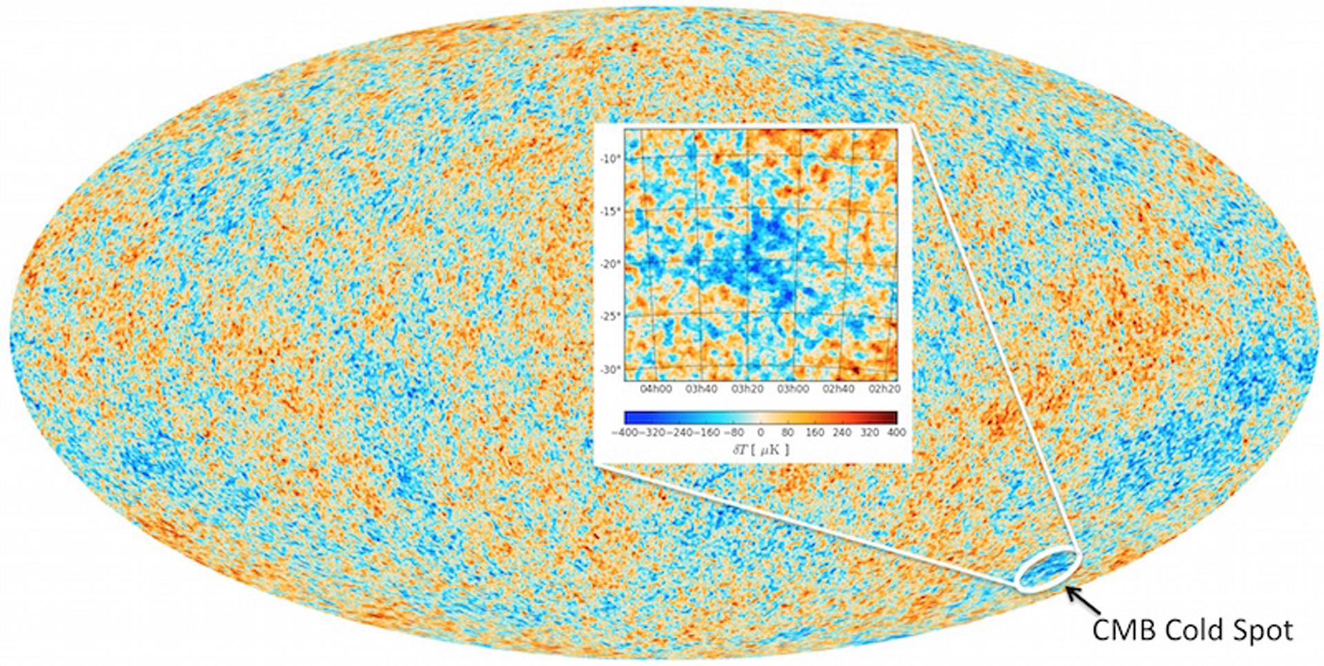 El Cold Spot se podría haber generado por el choque de dos universos
