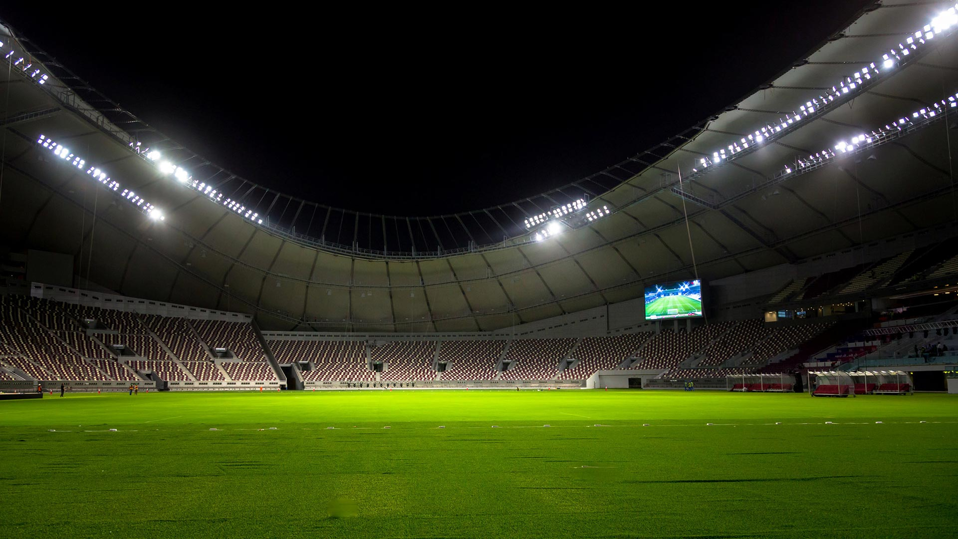 Estadio en Qatar. (Reuters)