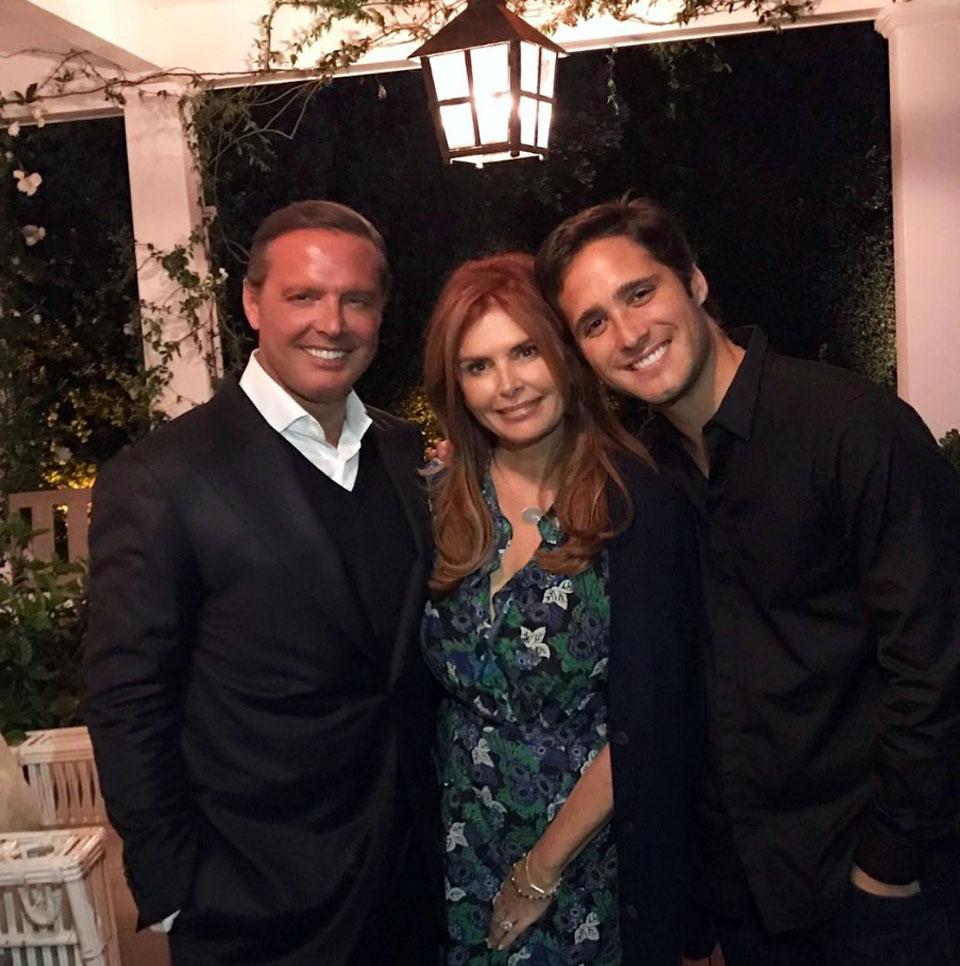 Luis Miguel se reunió con la productora Roma Downey y el actor Diego Boneta, quien será el protagonista de la ficción de Netflix que contará la vida del popular cantante