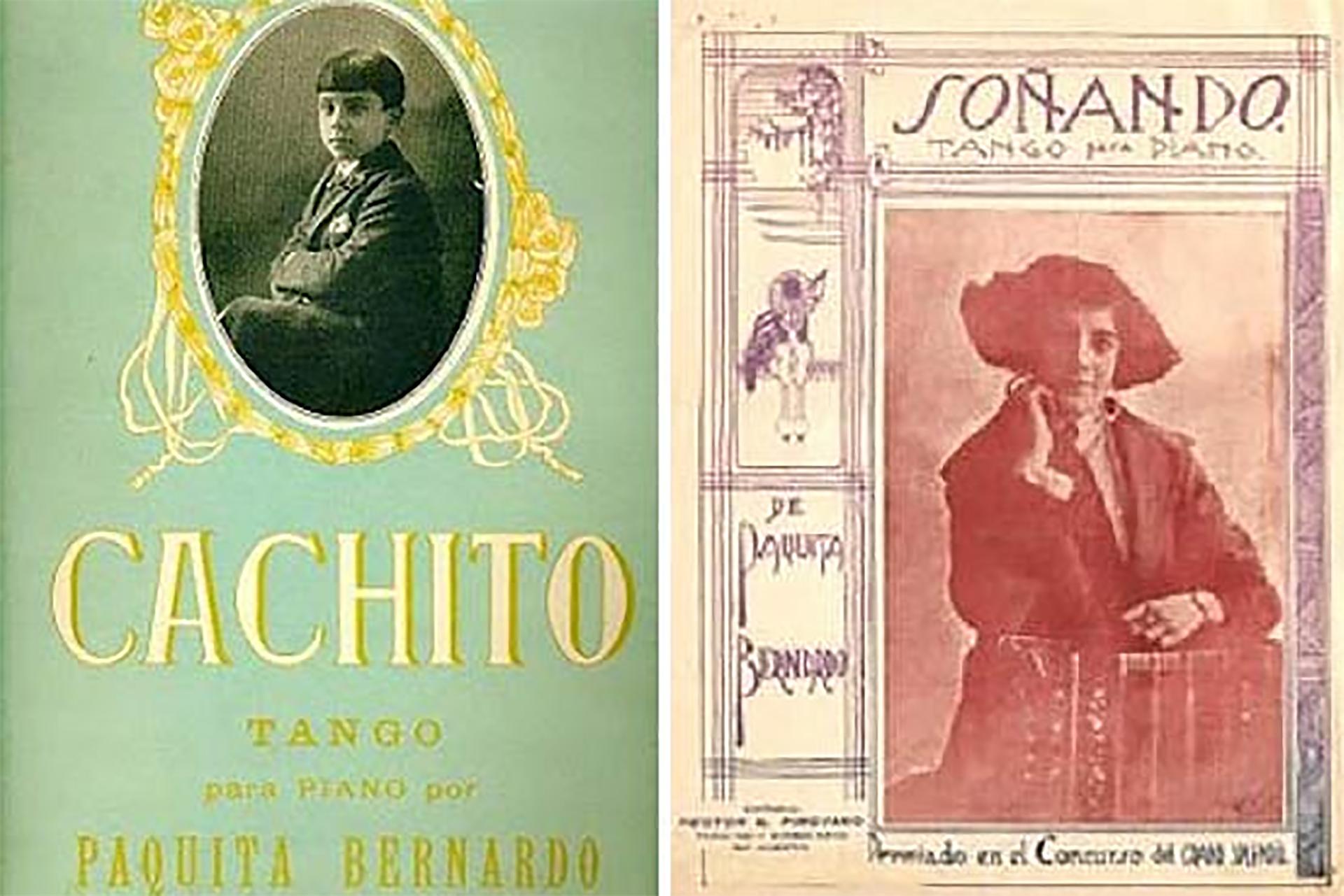 Partitura del tango compuesto por Paquita Bernardo que fue grabado por Carlos Gardel