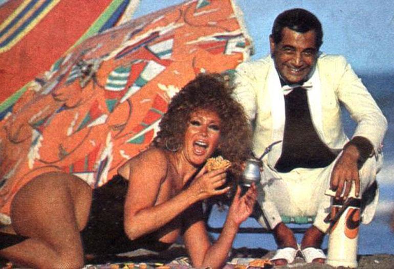 Moria Casán y Mario Castiglione