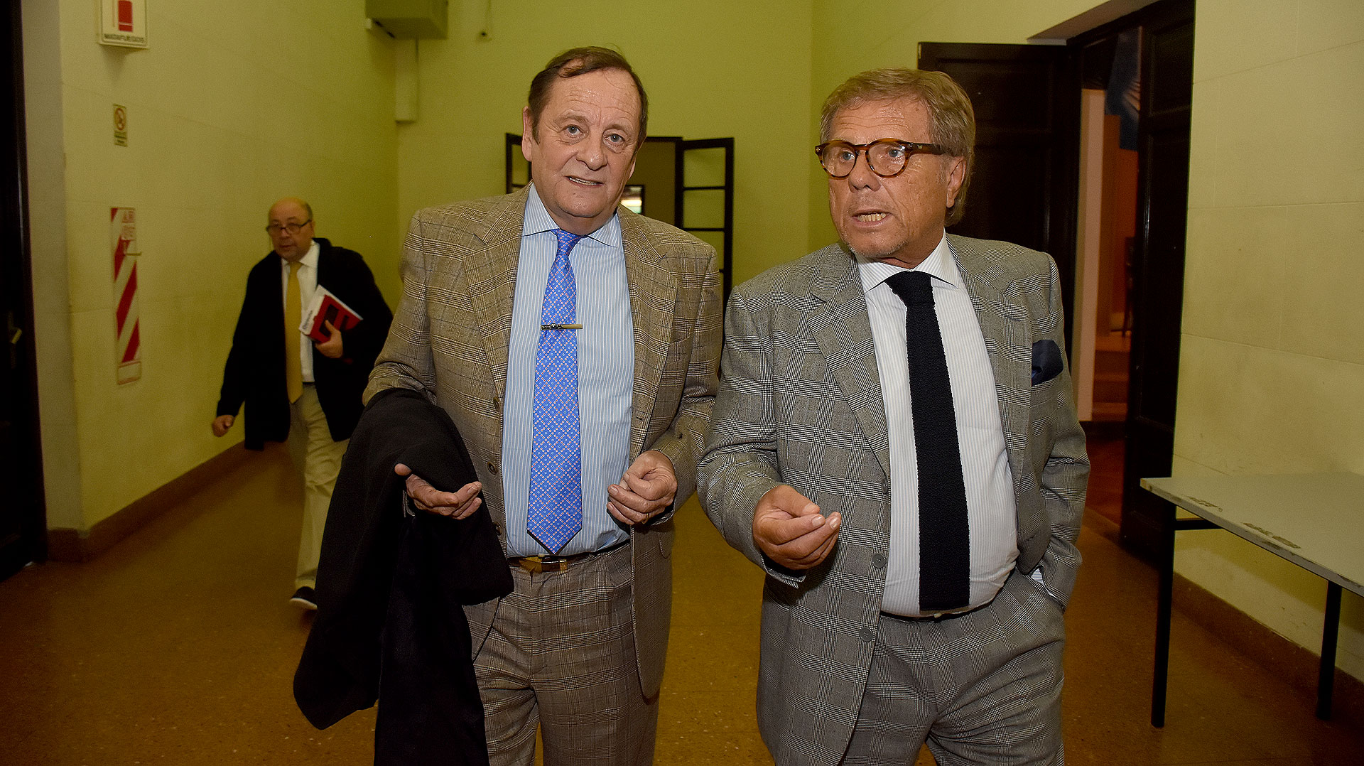El juez federal Rodolfo Canicoba Corral junto a De Kovetz, magistrado del Tribunal Oral Federal de San Martín