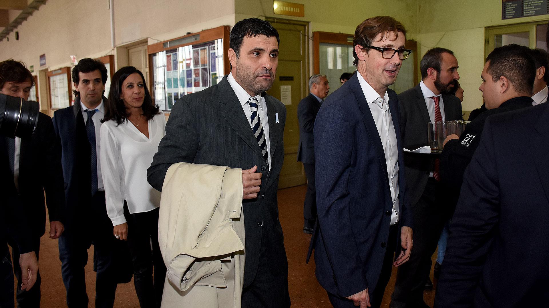 El juez federal de Quilmes Luis Armella y el camarista José Luis López Castiñeira