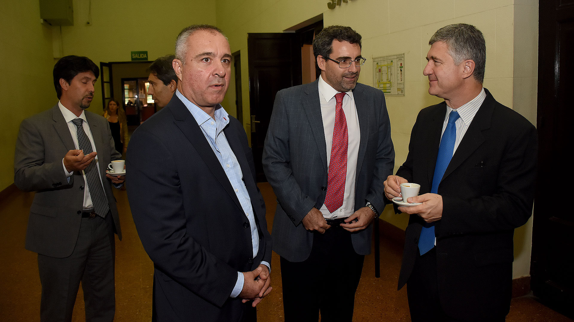 El juez de Campana González Charvay, el camarista Marcos Morán y el juez electoral bonaerense Juan Manuel Culotta