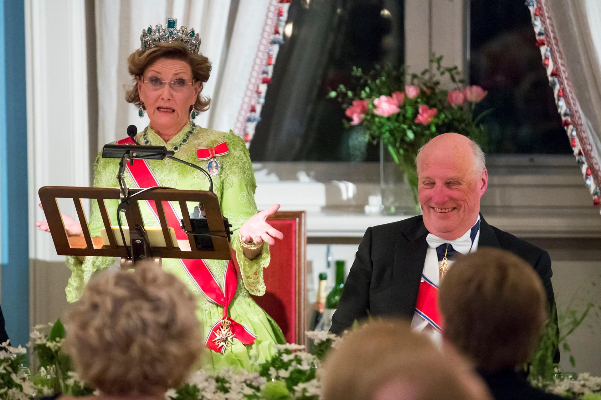 Los festejos conjuntos de cumpleaños de Harald y Sonja se extendieron por varios días, e incluyeron una gala en la Ópera de Oslo, además de una gran fiesta en el Palacio Real