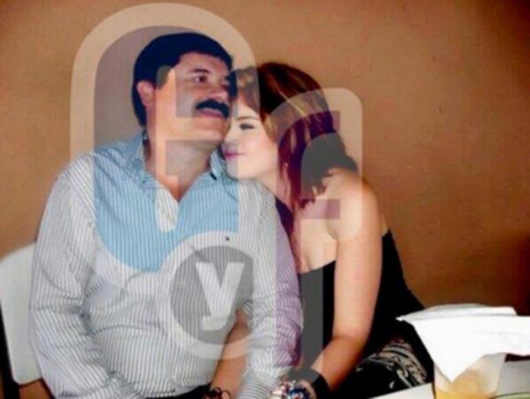 """El """"Chapo"""" Guzmán junto a Valeria Rubí Quiroz"""
